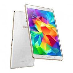"""La Galaxy Tab S de Samsung est une tablette fonctionnelle et ultraportable, dotée d'un écran capacitif de 8,4"""". Affichant plus de 16 millions de couleurs, sa dalle super AMOLED offre une résolution de 2560 x 1600 pixels et des images aux couleurs éclatantes.Fine et légère, cette tablette profite d'une finition irréprochable et d'un design premium de haute qualité. Très confortable à l'usage, elle possède un mode multi-utilisateurs et vous donne accès à tous vos films et séries préférés en…"""
