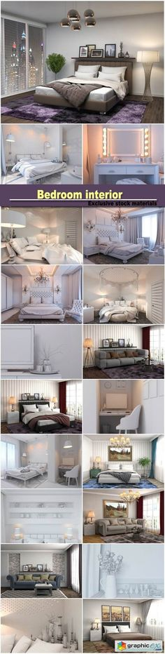 Bedroom interior interior with sofa 3d illustration  stock images