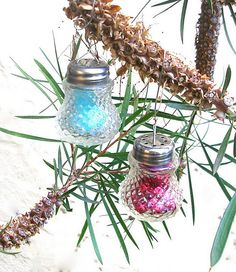 Upcycled Crystal Ornaments! Pretty! Easy! Vintage Chic!