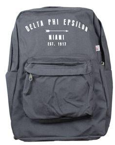 Delta Phi Epsilon Arrow Bookbag by Adam Block Design | Custom Greek Apparel & Sorority Clothes | www.adamblockdesign.com