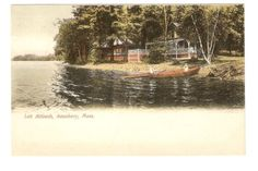 UDB-Postcard-Lake-Attitash-Homes-Cabins-Amesbury-Ma-Mass-1906