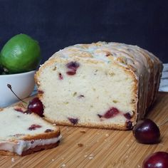 Cherry Poundcake with Lime Glaze. Find this and other wonderfully yummy #sundaysupper recipes from food artisans around the world at yumgoggle.com