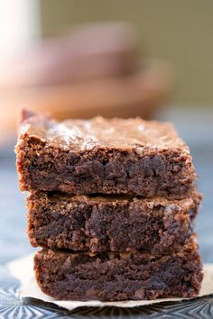 Better Than Box Mix Brownies - good, old-fashioned made-from-scratch chewy/ fudgy brownie recipe