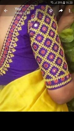 Kids Blouse Designs, Fancy Blouse Designs, Blouse Neck Designs, Sleeve Designs, Choli Blouse Design, Wedding Saree Blouse Designs, Peacock Embroidery Designs, Mirror Work Blouse Design, Kutch Work Designs