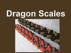 """How to make a Dragon Scales Paracord Bracelet (3/8"""" buckle) - YouTube"""