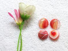 83Cts. 4pcs 100% Natural Red Onyx Cabochon Cab 20mm-19mm Round Shape Smooth Cut Flat Bottom Jewelry, Ring, Earring Making Gemstone by zakariyagems on Etsy
