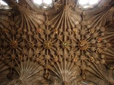St Giles Cathedral, Edinburgh - the vaulted roof of the Thistle Chapel