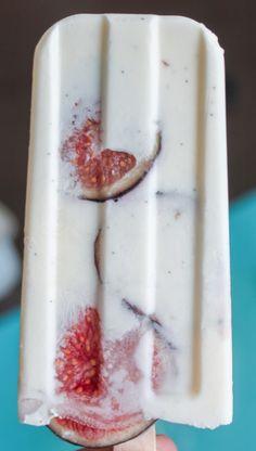 Vanilla, Fig & Sour Cream Popsicles
