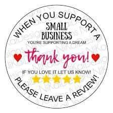 500 St/ück Danke Aufkleber Thank You for Supporting My Small Business Sticker Abdichtung Aufkleber Runde Etiketten Selbstklebend Geschenksticker Selbstgemacht Aufkleber f/ür Backen Geschenkt/üten