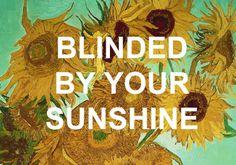 wefoundthestars:around my head - cage the elephants sunflowers, 1888 vincent van gogh