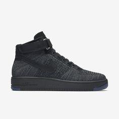 3a0cdd49c4 Nike Air Forc e 1 Ultr a Flyk nit Men  s Shoe Dark Grey Black