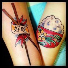 #chopstick #rice#newtattoo #pairingtattoo #tattoo#awesome
