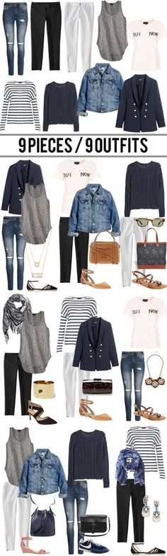 9 pieces / 9 outfits. - the good life for less