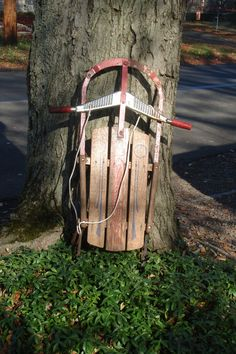 antique sled iron runners  wood sled vintage champiaon fastback by funknjunkinc on Etsy