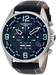 Torgoen Swiss Men's T18101 T18 Series Classic Steel Aviation Watch