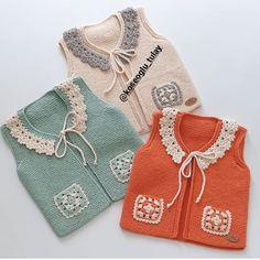 Baby Sweater Knitting Pattern, Knit Baby Sweaters, Knitted Baby Clothes, Baby Knitting Patterns, Crochet Patterns, Knitting For Kids, Hand Knitting, Crochet Baby, Crochet Bikini