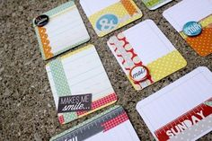 Cute journaling cards! Lots of great ideas and links on this blog