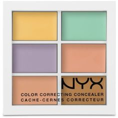 Nyx Multi Color Correcting Palette ($12) ❤ liked on Polyvore featuring beauty products, makeup, face makeup, multi, nyx makeup, palette makeup, nyx cosmetics and nyx