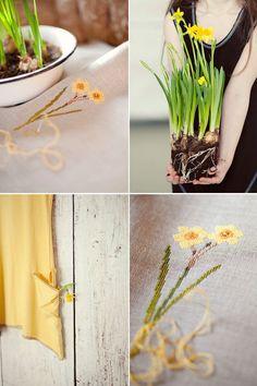 Veronique Enginger  'L'herbier du jardin au point de croix'' Narcisse - Loreta