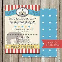 Big Top Boys Birthday Invitation By GoldenMomentsDesign On Etsy 1000 Circus Invitations Boy