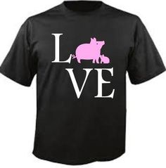 Pig LOVE shirt  by LivieCreations on Etsy