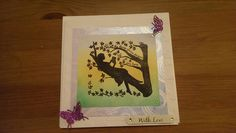Sister in law birthday card with cloud embossed background and die cut butterflies.