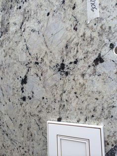 """C"" Granite.  White Galaxy"