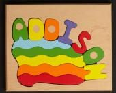 Custom Name Puzzle in Primary or Pastel, (FREE SHIPPING)
