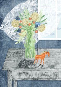 Still Life with Flowers & Toy Horse