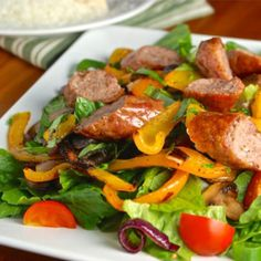 Related PostsGrilled Balsamic Glazed Sausage & Pepper SkewersHealthy Italian Sausage & Roasted Pepper SaladVegan Sesame Ginger Salad Stir FryZucchini and Green Bean SaladShaved Asparagus + Carrot Salad with a Toasted Cumin Vinaigrette