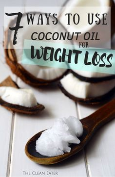 The benefits of coconut oil is very widespread, but did you know you csn use coconut oil for weight loss? Here are 7 ways to use coconut oil to lose weight. Quick Weight Loss Diet, Weight Loss Help, How To Lose Weight Fast, Healthy Weight, Reduce Weight, Losing Weight, Healthy Food, Weight Gain, Healthy Recipes