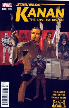 Kanan The Last Padawan Incentive #1 Killian Plunkett Variant Cover (2015) Marvel. Greg Weisman Story. 1st Appearance Kanan Jarrus (in Comics) Kanan Jarrus - in STAR WARS REBELS, he's a cocky, sarcastic renegade fighting against the Galactic Empire alongside the rag-tag crew of the Ghost... but years before, at the height of the Clone Wars, he was known as Caleb Dume, Jedi Padawan under the instruction of Jedi Master Depa Billaba. Neither master nor apprentice ever suspected that the Clone…