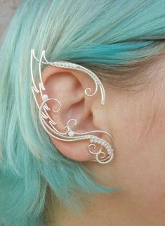 Pair of elf ear cuffs Skadi - Ear cuff - Elf ears - Fairy ear cuffs - Ear cuff n. - Pair of elf ear cuffs Skadi – Ear cuff – Elf ears – Fairy ear cuffs – Ear cuff no piercing - Ear Jewelry, Cute Jewelry, Body Jewelry, Jewelery, Jewelry Accessories, Jewelry Design, Jewelry Making, Jewelry Ideas, Fantasy Jewelry