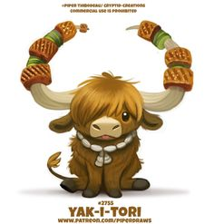 Cute Food Drawings, Cute Animal Drawings Kawaii, Kawaii Drawings, Disney Drawings, Cute Fantasy Creatures, Mythical Creatures Art, Cute Creatures, Colorful Animals, Cute Animals