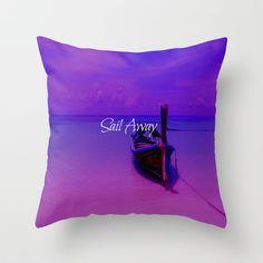 Sail Away Throw Pillow by Veronica Ventress - $20.00