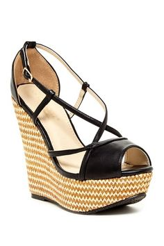 DbDk Fashion Four Chevron Wedge Sandal by Elegant Footwear on @HauteLook