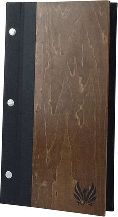 Wood with Leather Spine - Create an attractive arrangement of your menu items with menu covers from Menu Designs. We have a large selection of menu covers made from the finest materials. Whether you're a café interested in menu boards or a five star dining establishment who's looking for leather menu covers, we're sure you'll find the perfect menu covers for your restaurant.