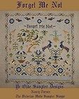 Forget me Not,antique sampler style,cross stitch chart(10pg) & overdyed floss!