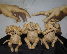 3 Wise Monkeys toy animals