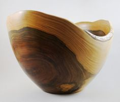 Wood Bowl No130407  Natural Edge Tropical Guayacan by conreysa, $115.00