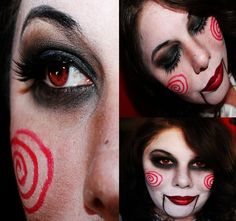 Halloween makeup-Jigsaw