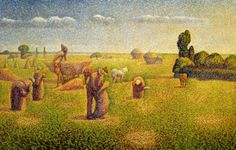 """Los agricultores"" Obra de Charles Angrand Museum of Fine Arts Houston. /// ""The Harvesters"" Work by Charles Angrand Museum of Fine Arts Houston. Georges Seurat, Charles Angrand, Houston, Google Art Project, Post Impressionism, Impressionist Paintings, Manet, Art Database, Oil Painting Reproductions"