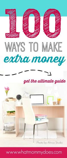 There are 100 ways to make money in this list! You could make $500 to $1,000 extra easily. They're money-making ideas that have worked for me & my friends.