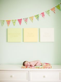 """Amazing Grace, How Sweet the Sound"" - love this #nursery #walldecor! {And how adorable is this baby?}"