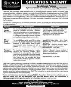 Jobs In ICMAP Institute of Cost Management Accountant of Pakistan Karachi  http://www.dailypaperpk.com/jobs/178666/jobs-icmap-institute-cost-management-accountant-pakistan-karachi