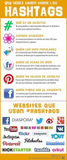 Qué son los Hashtags, unos datos #infografia #facebook #twitter