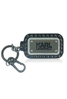 KARL--品牌姓名邊綴釘個性鑰匙圈