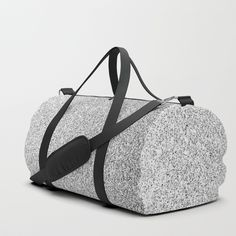 Beautiful Silver glitter sparkles Duffle Bag by #PLdesign #style #fashion #accessories @Society6