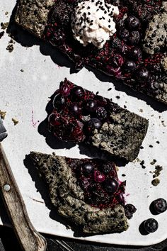 Black Sesame Cherry Galette is the new new you have been waiting for this summer. Both black sesame powder and seeds are used to double up on the flavor. Donut Recipes, Pastry Recipes, Tart Recipes, Best Dessert Recipes, Sweet Recipes, Summer Desserts, Fun Desserts, Delicious Desserts, Food Styling