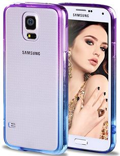 Galaxy S5 Case, Vofolen® Colorful Gradient Edge Galaxy S5 Cover Clear Shell Slim Case Transparent Impact Resistant Flexible TPU Soft Bumper Case Protective Shell for Samsung Galaxy S5 (Purple/Blue) Vofolen http://www.amazon.com/dp/B0123EP4QA/ref=cm_sw_r_pi_dp_JEEcwb19SJ042